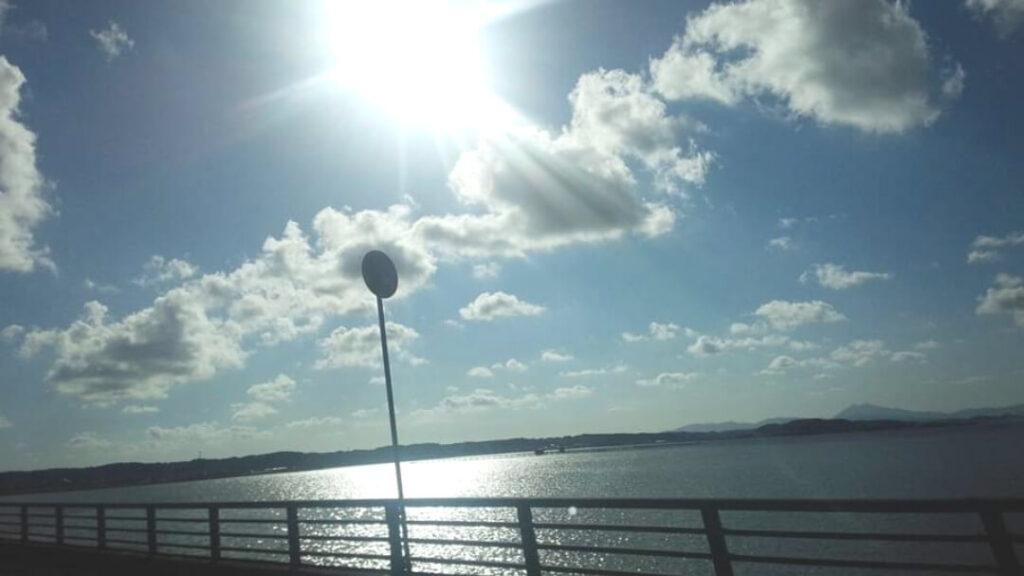 神栖市へ現場出張!晴れてて海がきれい♪