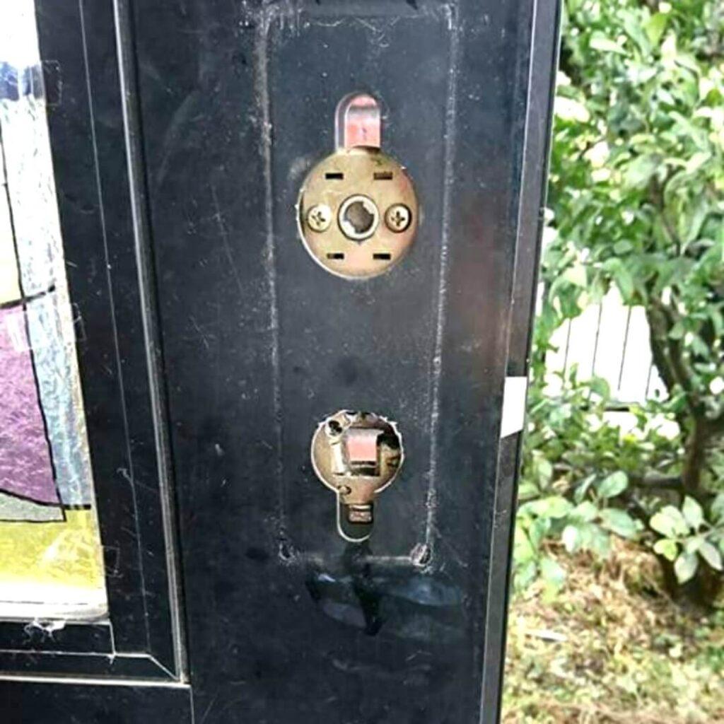 ラッチを破壊しても鍵の開け閉めは可能