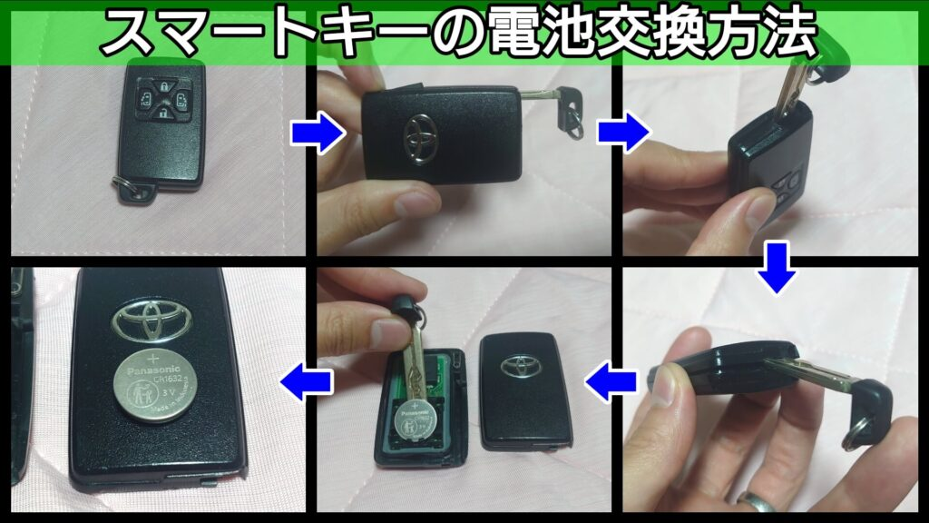 エスティマのスマートキーの電池交換方法