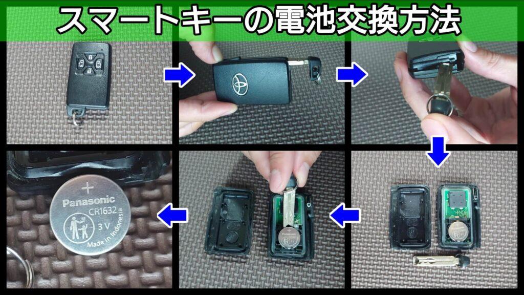 ヴォクシーのスマートキーの電池交換方法