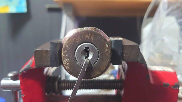 ピッキング練習第9弾!遂にMIWA製の鍵にチャレンジしてみました