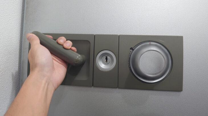 セコム製の業務用金庫のダイヤル開錠