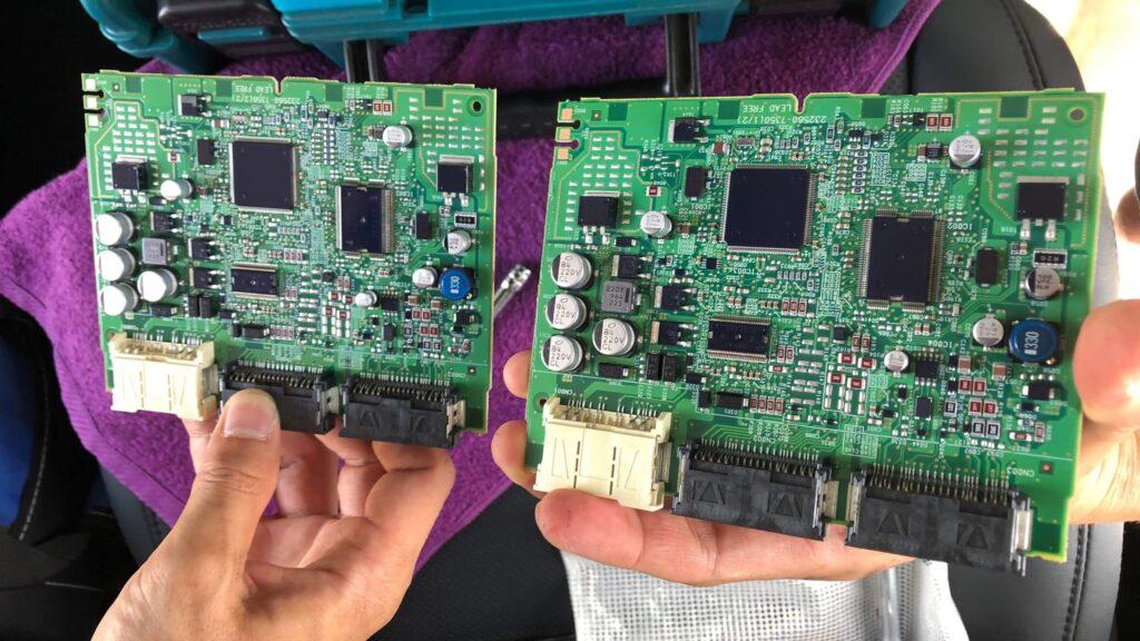 30系ヴェルファイアのコンピューター交換作業