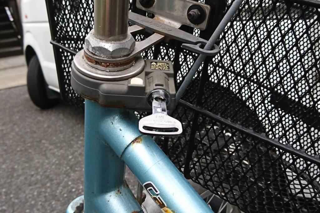 自転車の鍵を全て失くしたことによるキー作製に対応