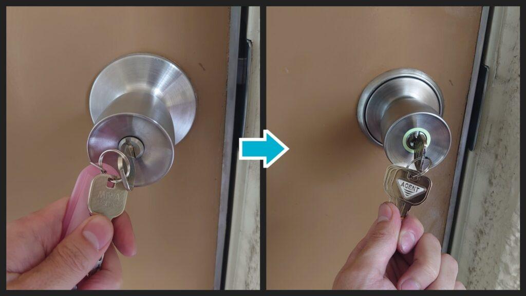 玉座・インテグラル錠の鍵交換に出張対応