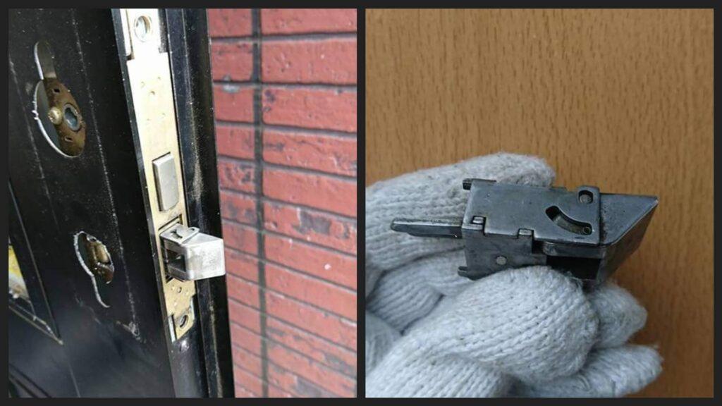 ラッチの破壊開錠は素人では非常に難しい