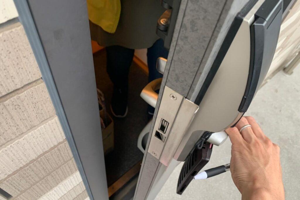 ALPHA製edロックの非破壊開錠に出張対応