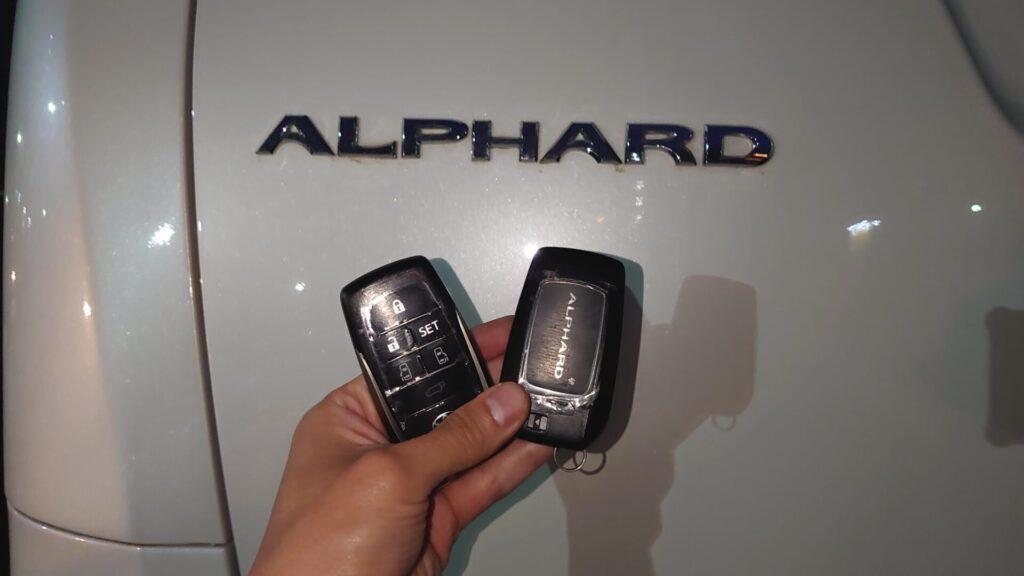 高年式なアルファードの鍵紛失に対応する鍵屋