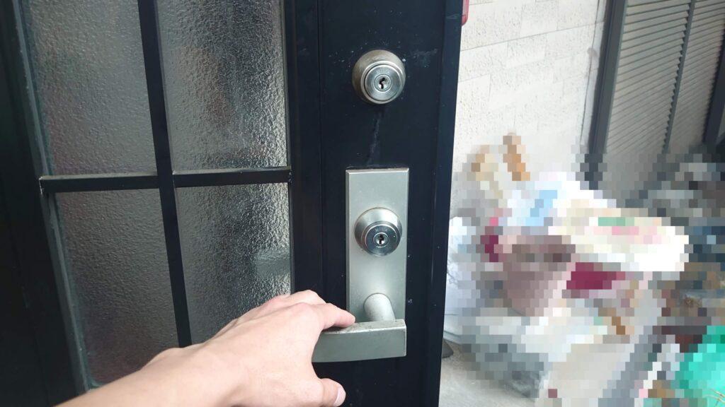 MIWA製ディスクシリンダー玄関開錠