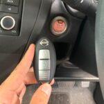 日産ノートE12のスマートキー&プッシュスタートボタン